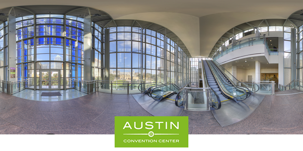 Click to see a 360 virtual tour of the Austin Convention Center